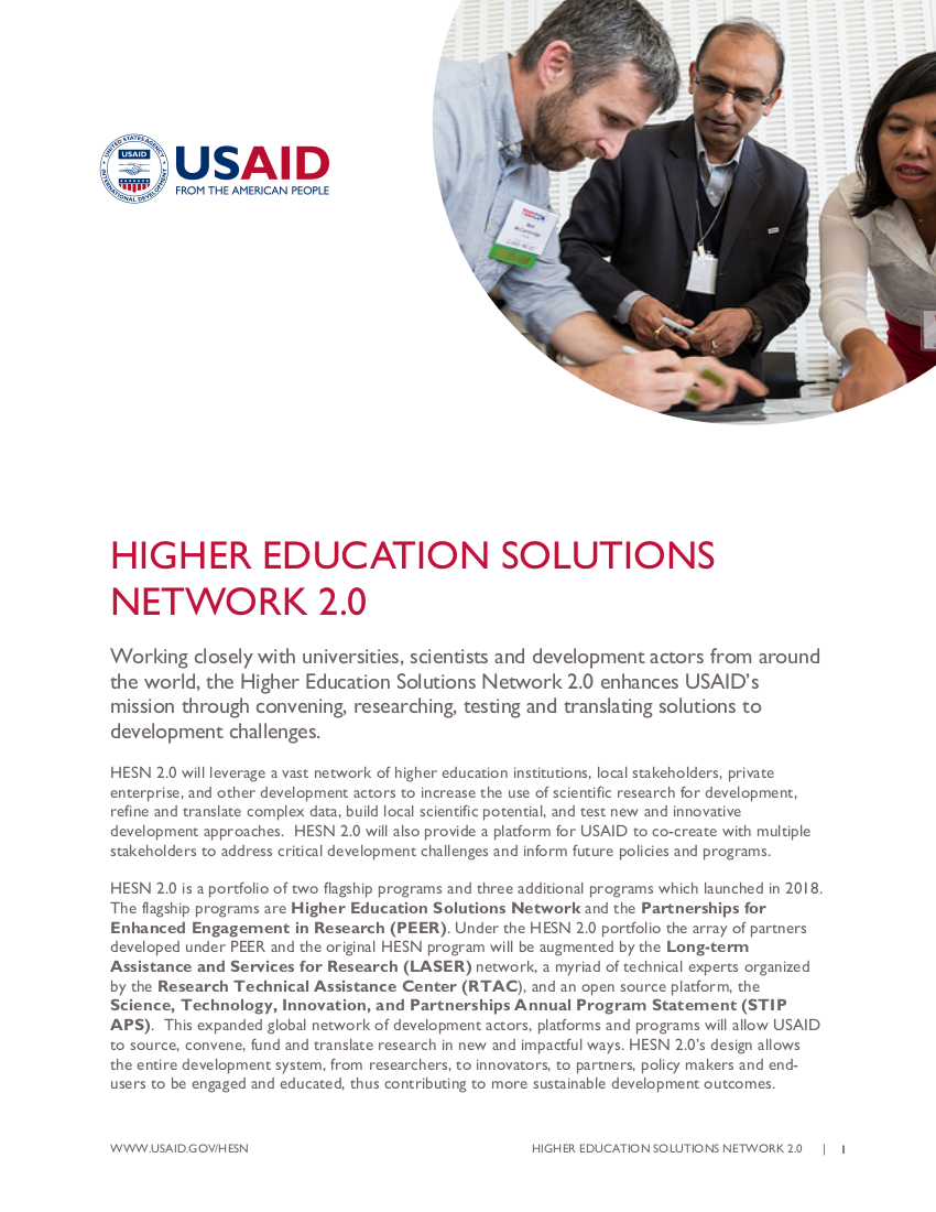 Higher Education Solutions Network 2.0