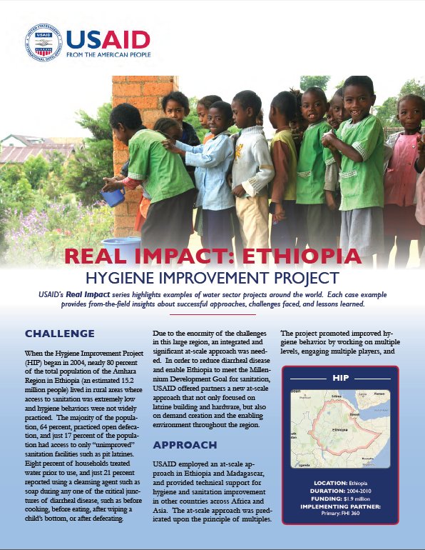 impacts of wash project in ethiopia 50 schools  to assess whether defined impact pathways (based on the project's  focus on  the wash project in 6 woreda's of the snnrps region in ethiopia.