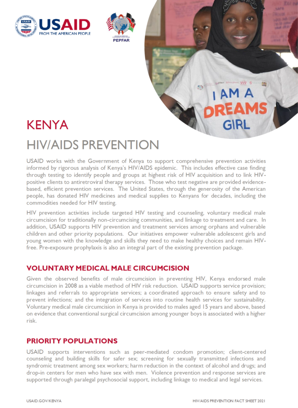 HIV/AIDS Prevention fact sheet
