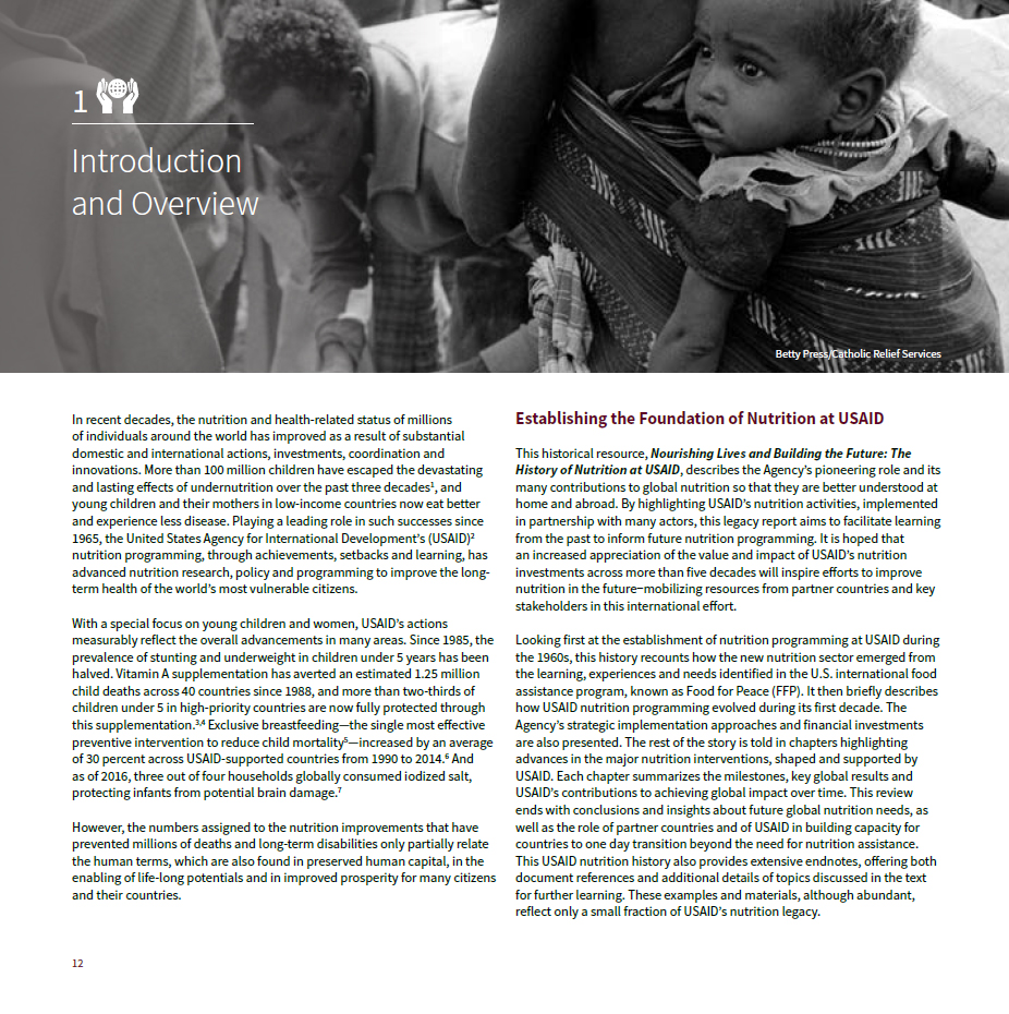 The History of Nutrition at USAID: Chapter 1