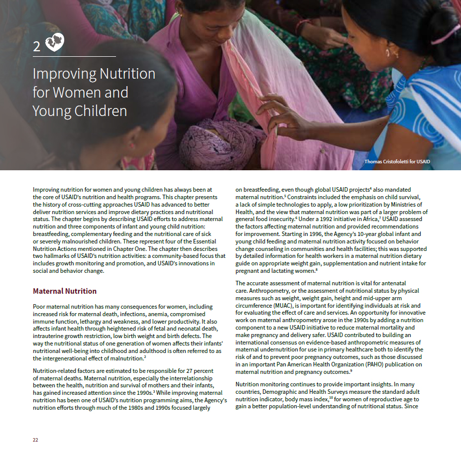 The History of Nutrition at USAID: Chapter 2