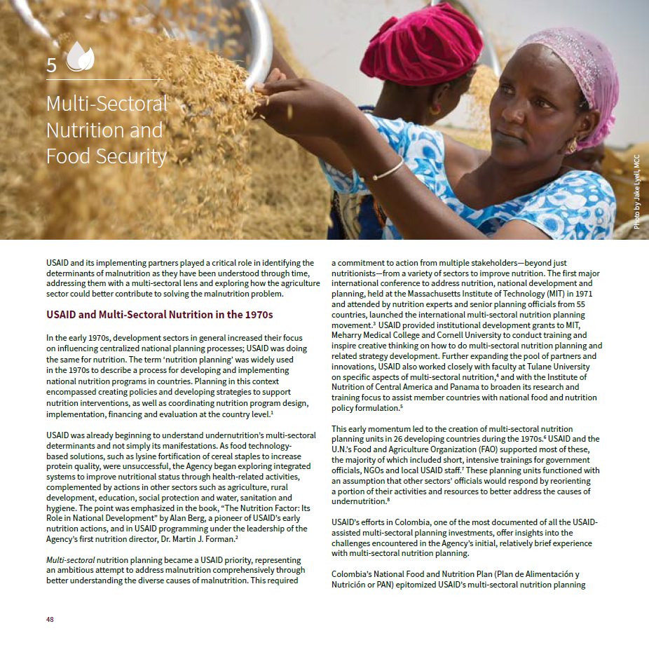 The History of Nutrition at USAID: Chapter 5