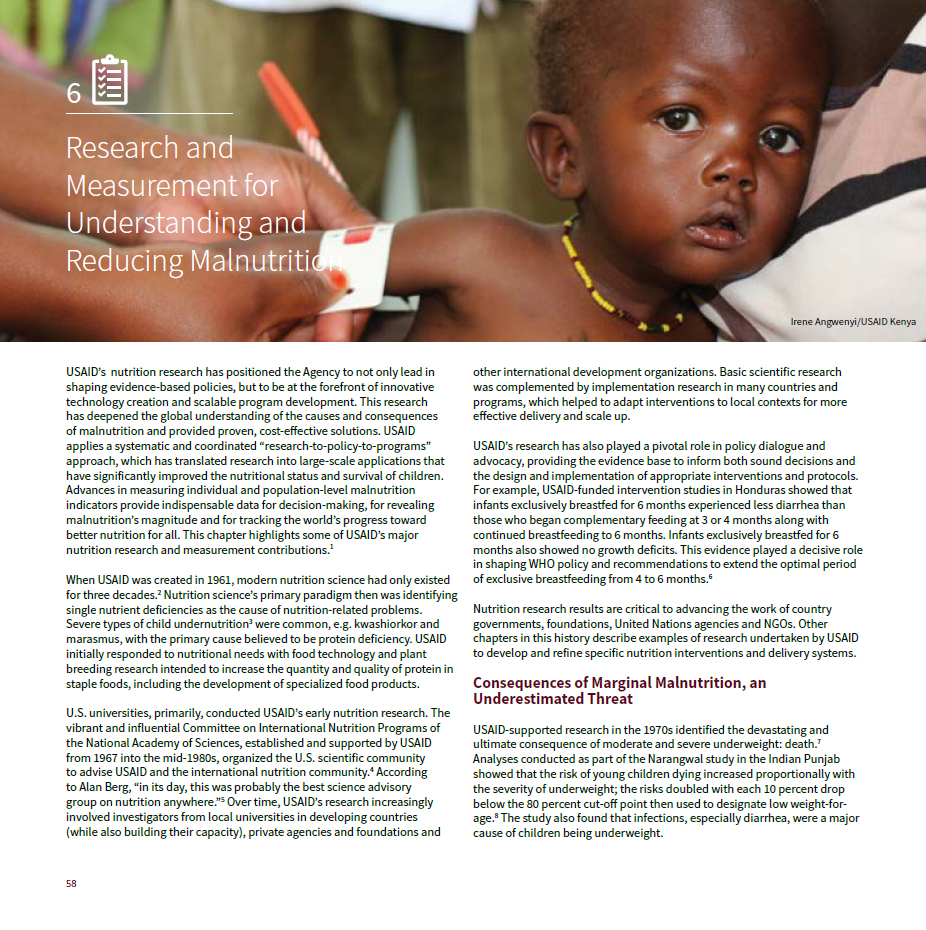 The History of Nutrition at USAID: Chapter 6
