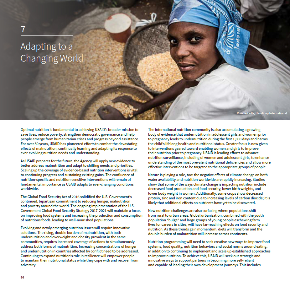 The History of Nutrition at USAID: Chapter 7