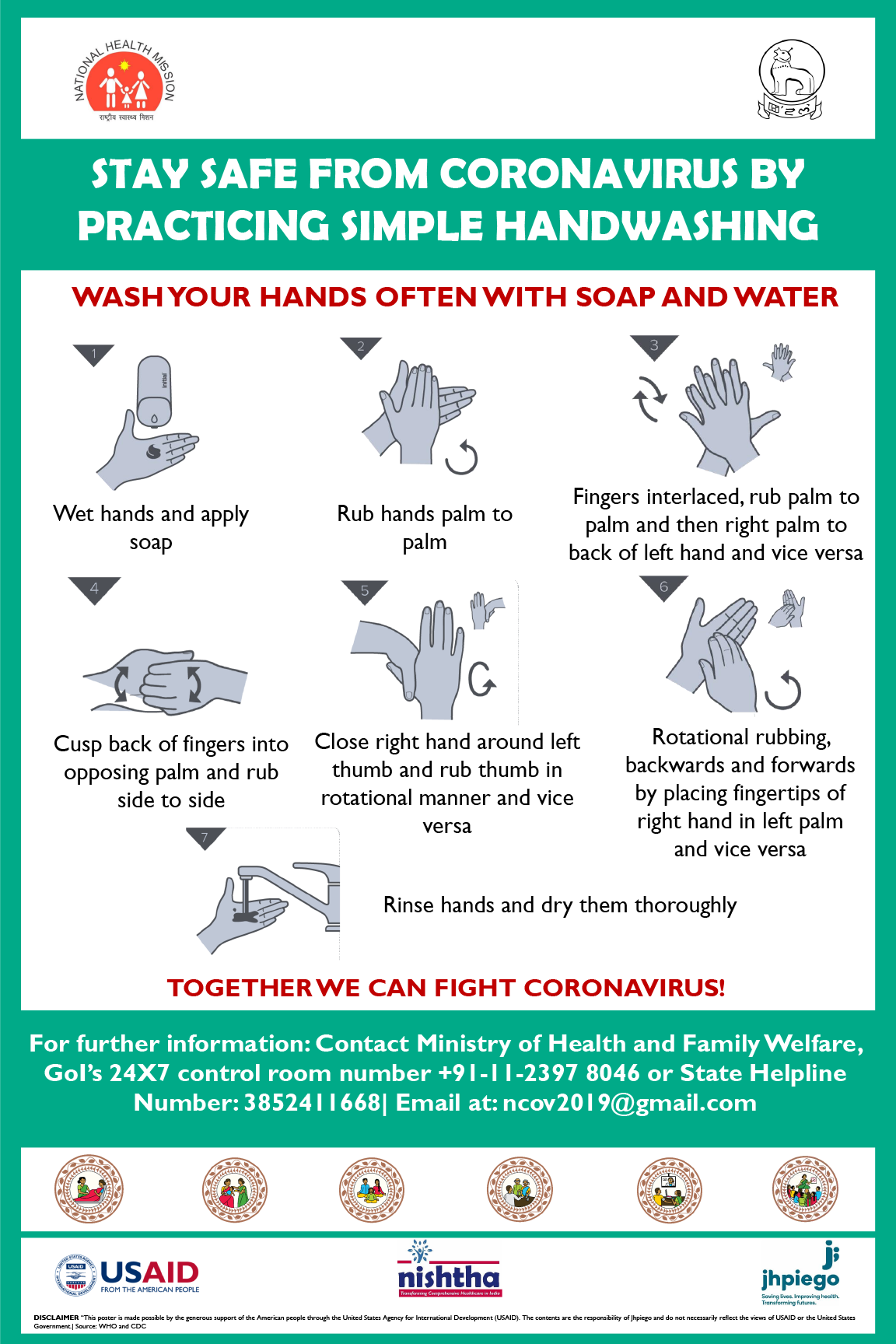 Stay Safe From Coronavirus By Practicing Simple Handwashing