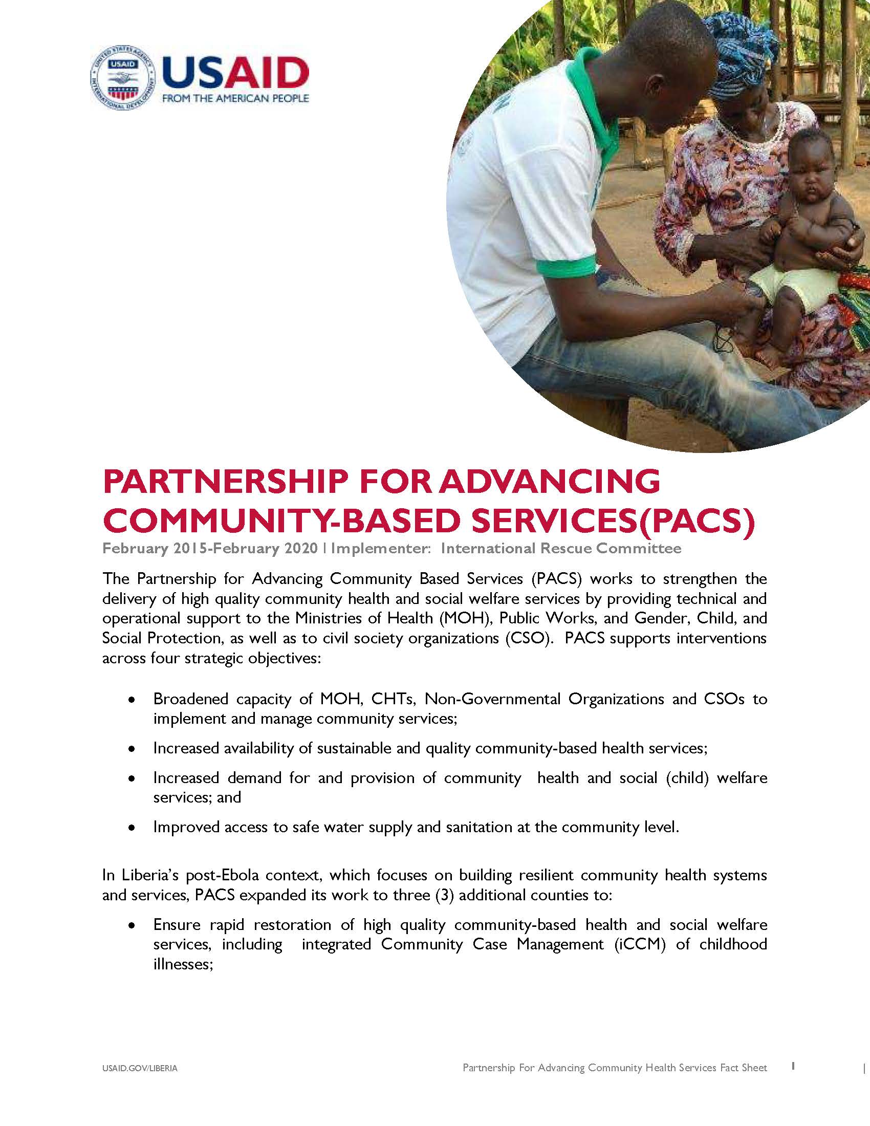 Partnership for Advancing Community Based Services Activity