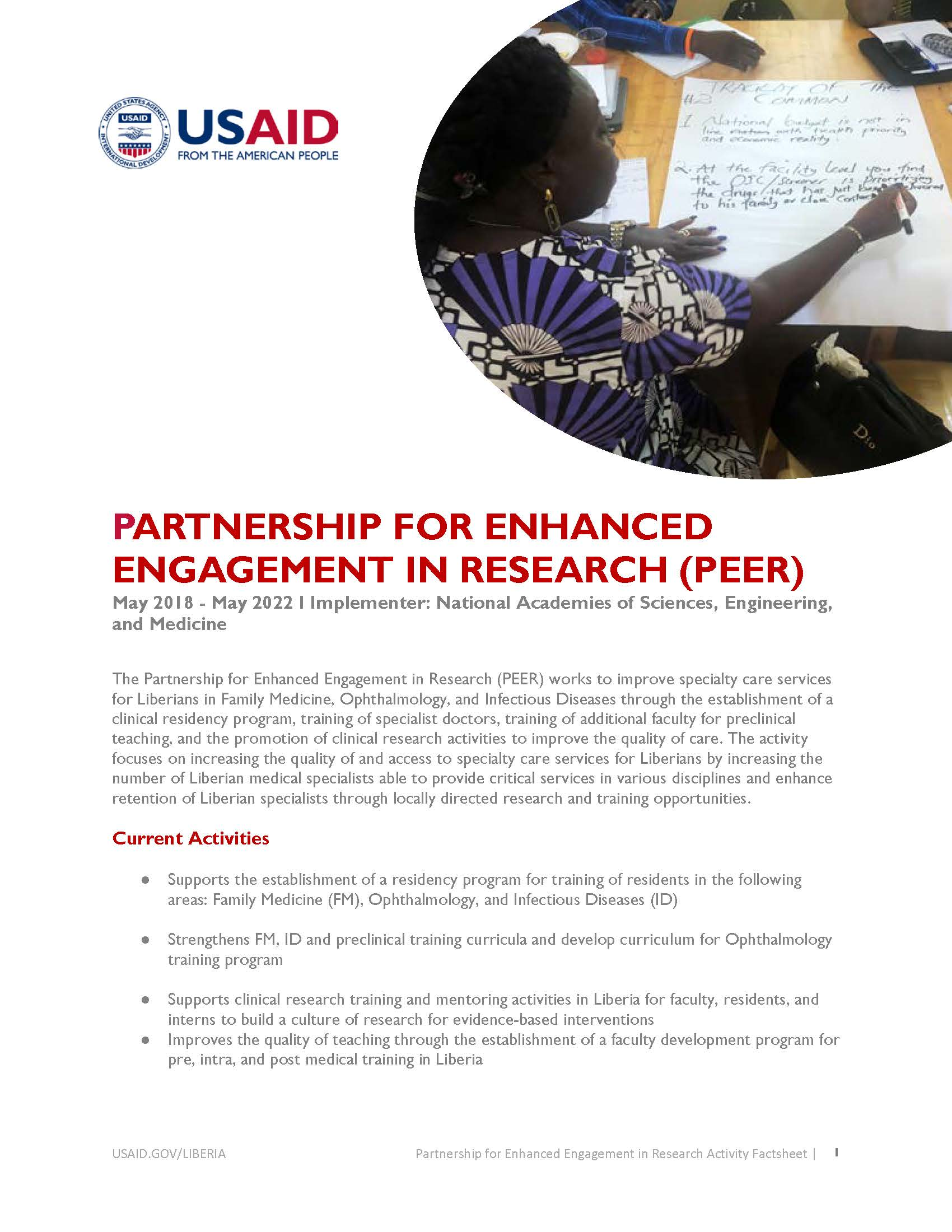 Partnership for Enhanced Engagement in Research Activity
