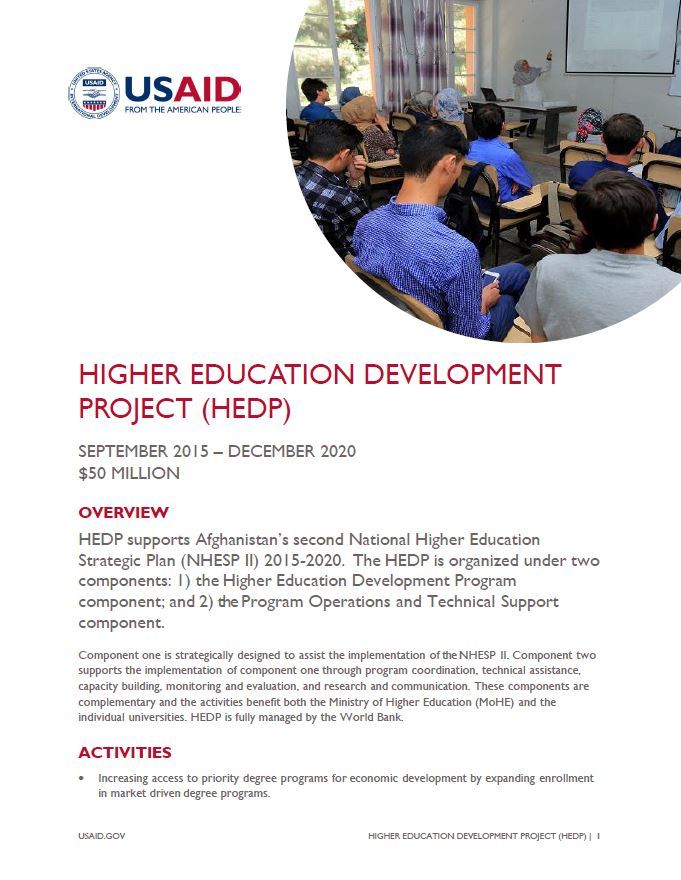 Higher Education Development Project (HEDP)