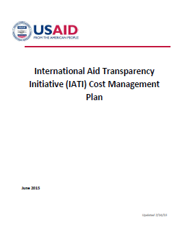 IATI Cost Management Plan