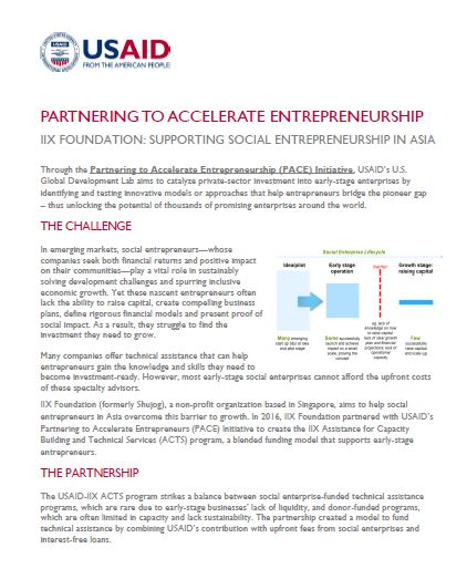 PACE Partnership with IIX Foundation