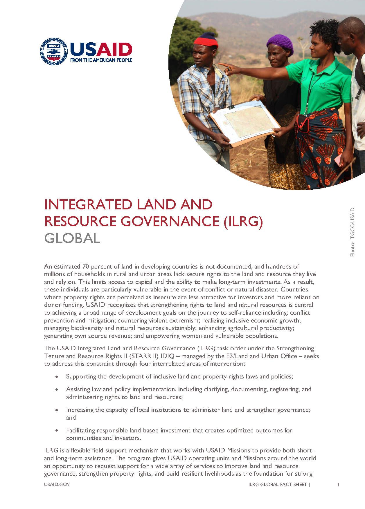 INTEGRATED LAND AND RESOURCE GOVERNANCE - GLOBAL - Fact Sheet