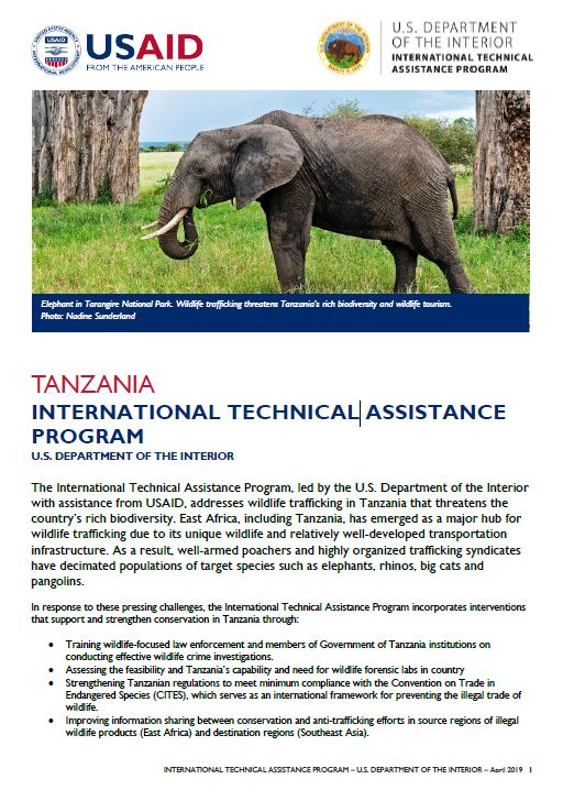 International Technical Assistance Program - Department of the Interior Fact Sheet