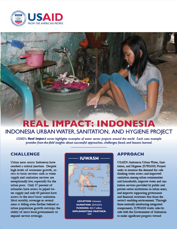 Real Impact: Indonesia - Indonesia Urban Water, Sanitation and Hygiene Project