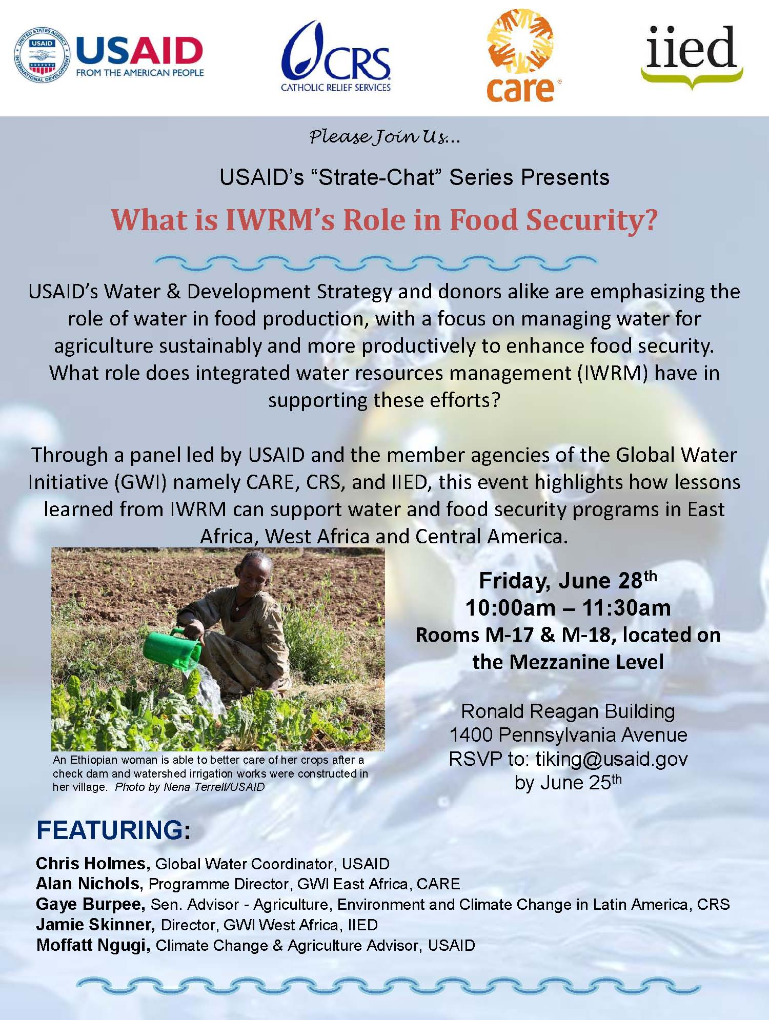 Invitation to the What is IWRM's Role in Food Security learning event.