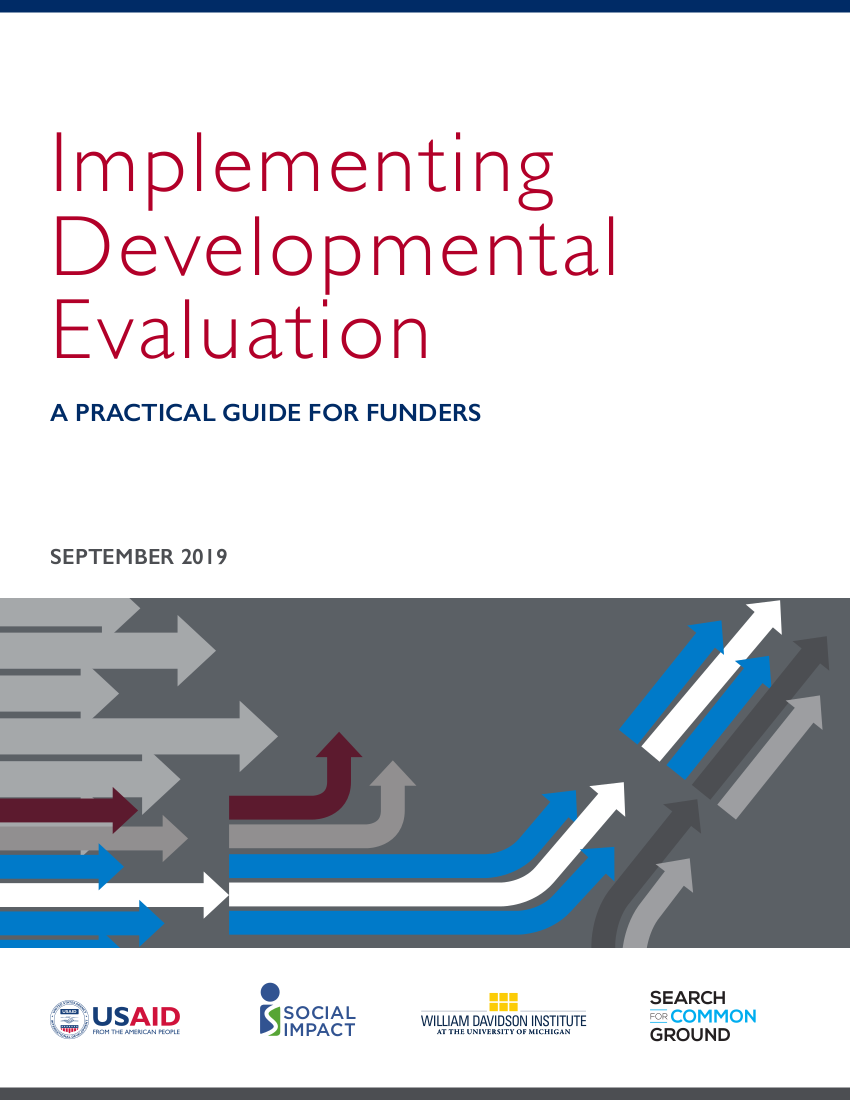 Implementing Developmental Evaluation: A Practical Guide for Funders