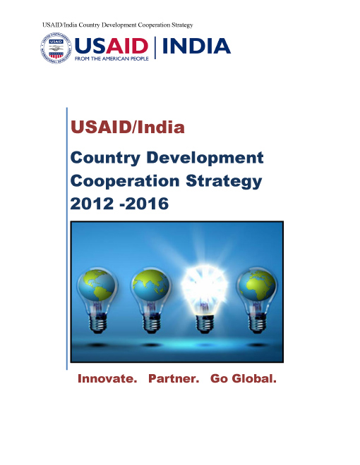 USAID/India Country Development Cooperation Strategy