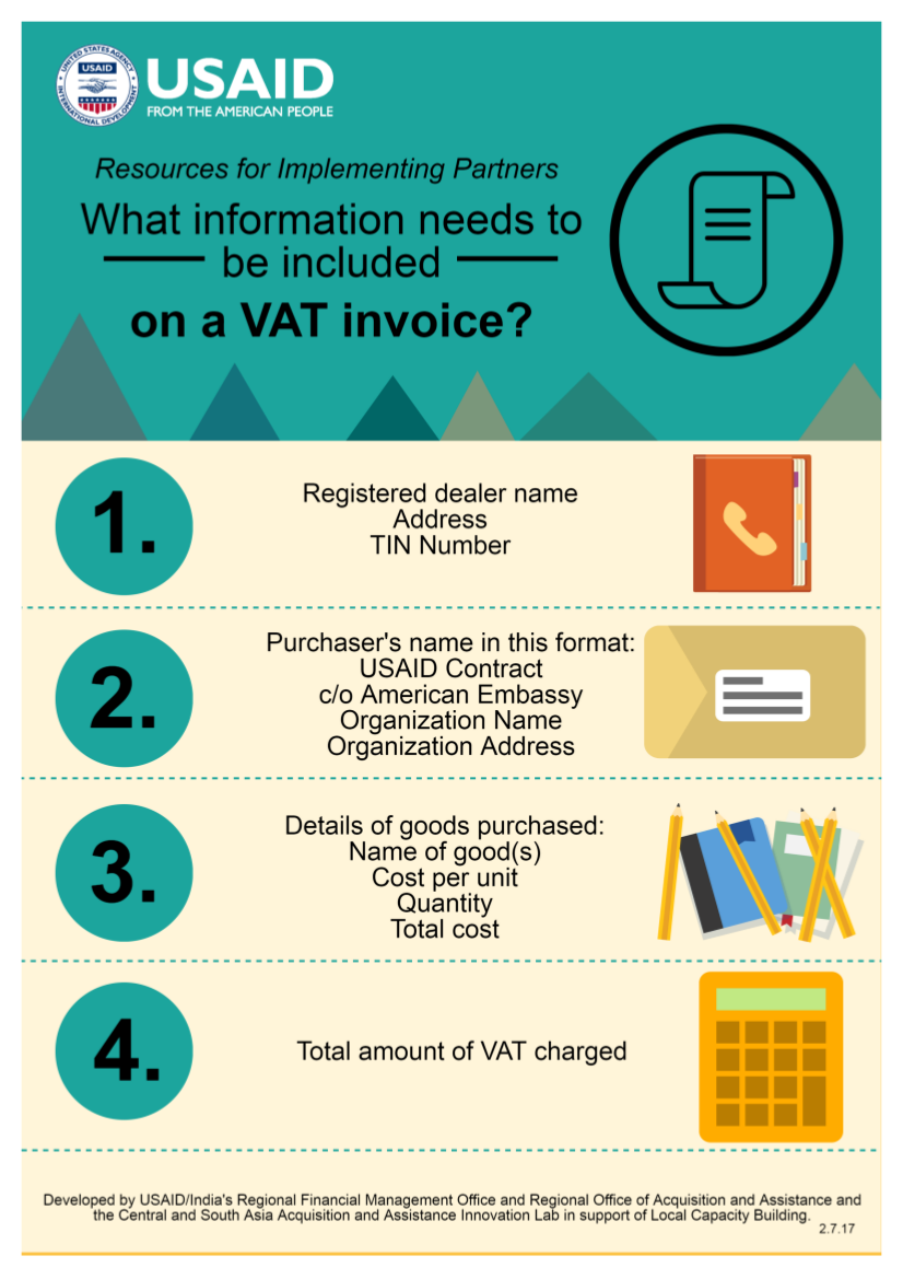 Infographic: What information needs to be included on a VAT invoice?