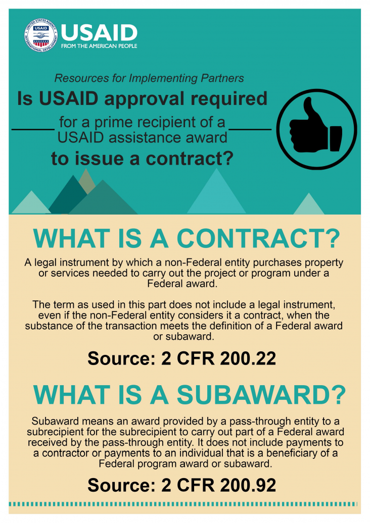 Infographic Is Usaid Approval Required For A Prime Recipient Of A