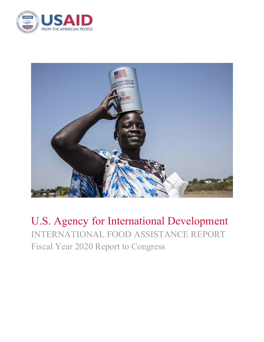 USAID International Food Assistance Report, FY 2020