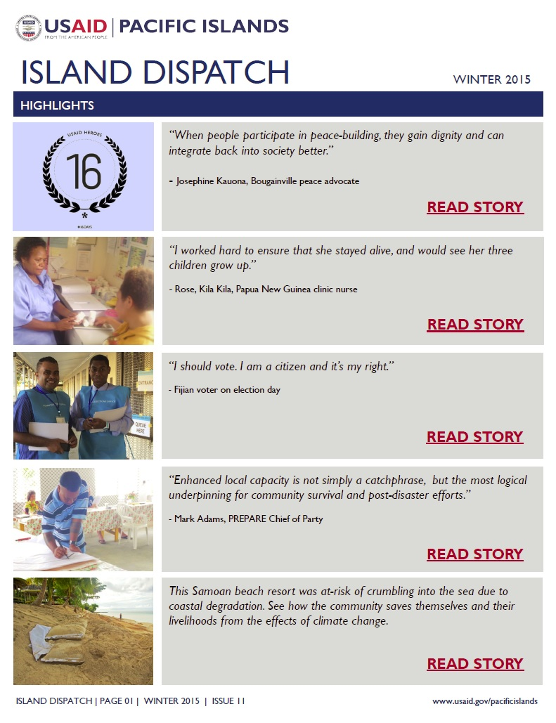 ISLAND DISPATCH: USAID/Pacific Islands Newsletter