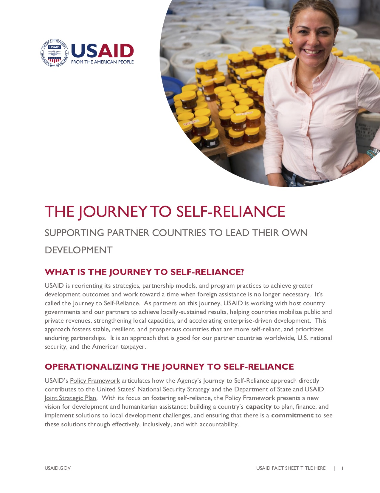 Journey to Self-Reliance Fact Sheet