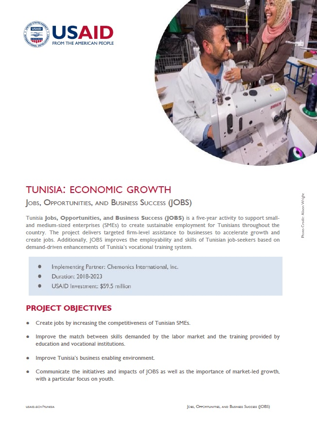 USAID/Tunisia JOBS Fact Sheet