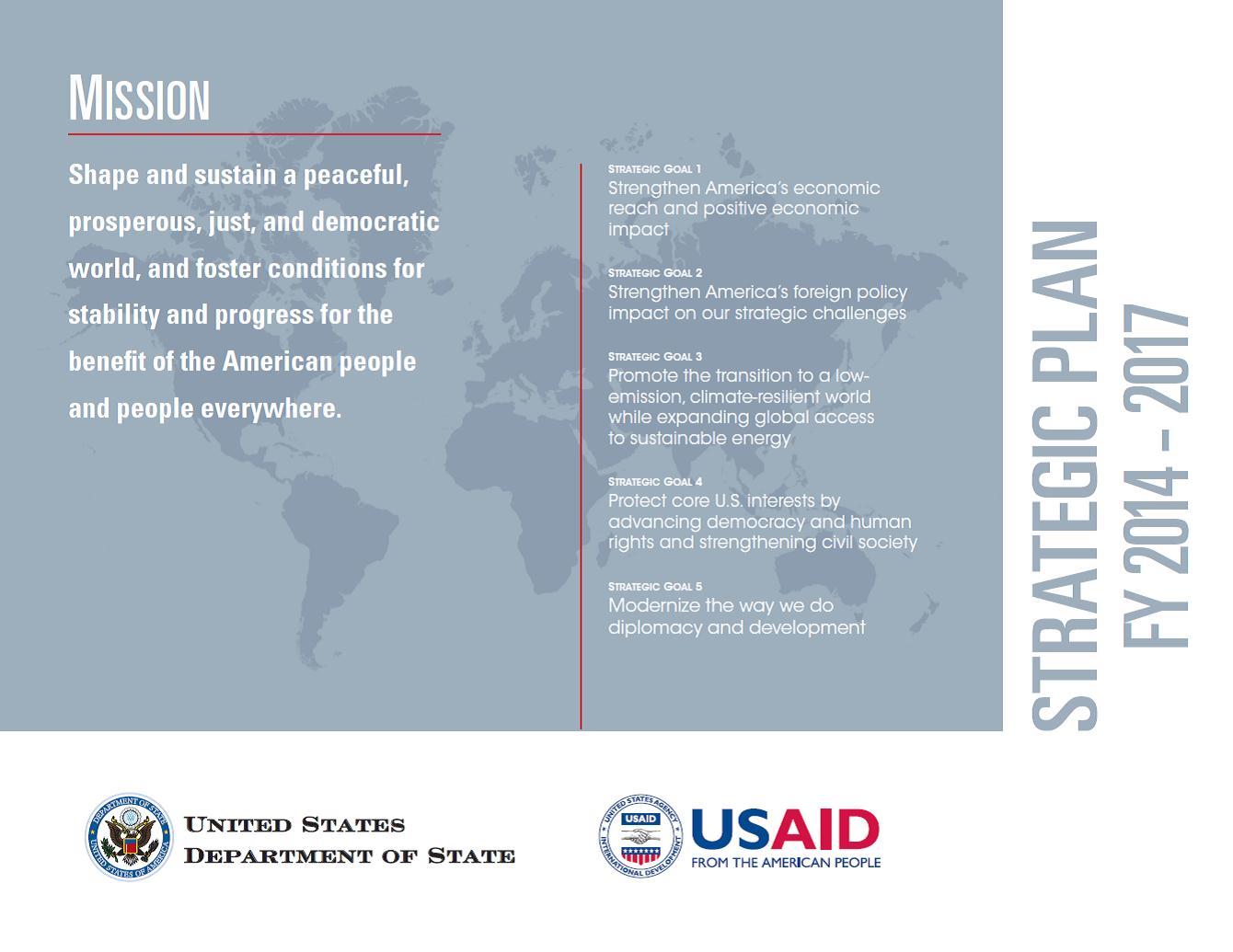 USAID and Department of State Strategic Plan FY 2014-2017