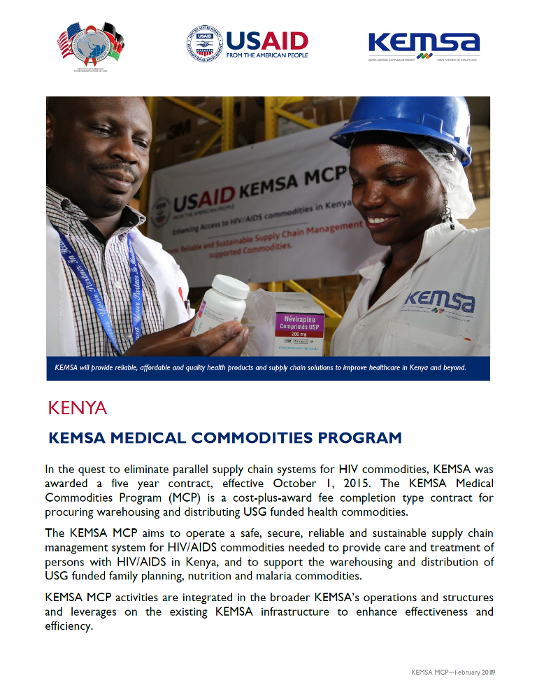 Medical Commodities Program fact sheet 2019