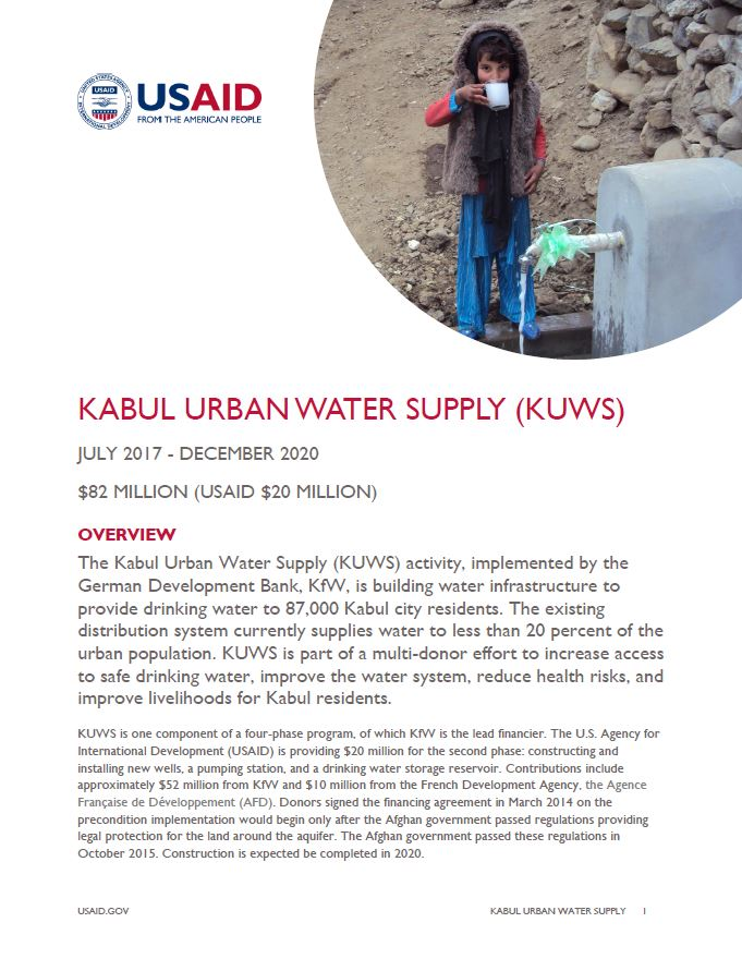 Kabul Urban Water Supply (KUWS)