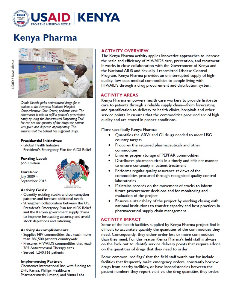 Kenya Pharma Fact Sheet_August 2014