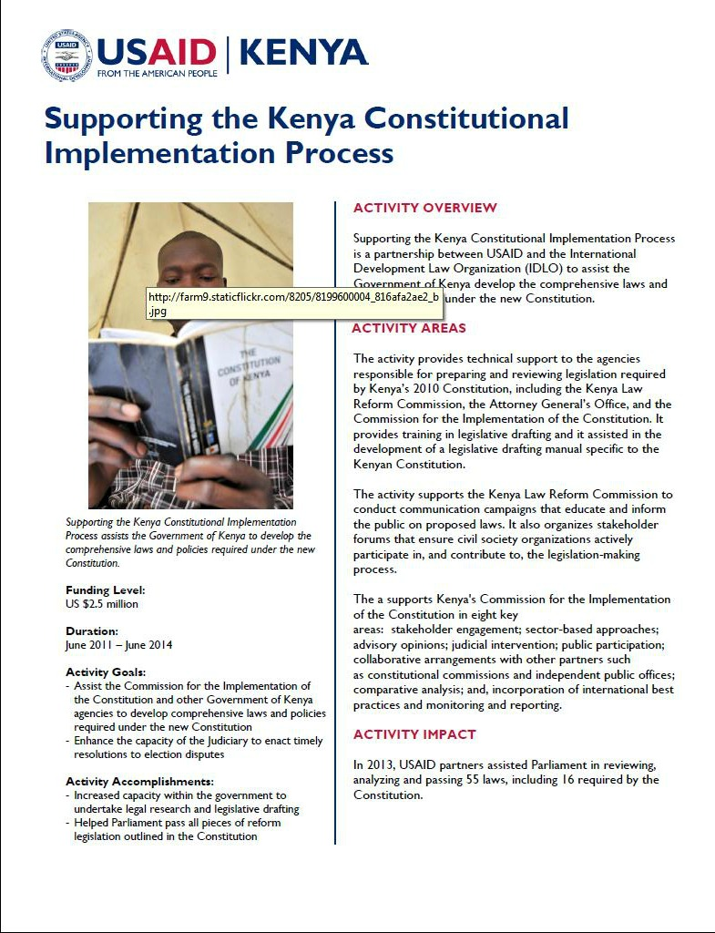 Supporting the Kenyan Constitutional Implementation Process_February 2014