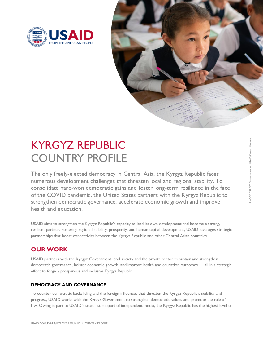 Kyrgyz Republic Country Profile - Updated February 2021