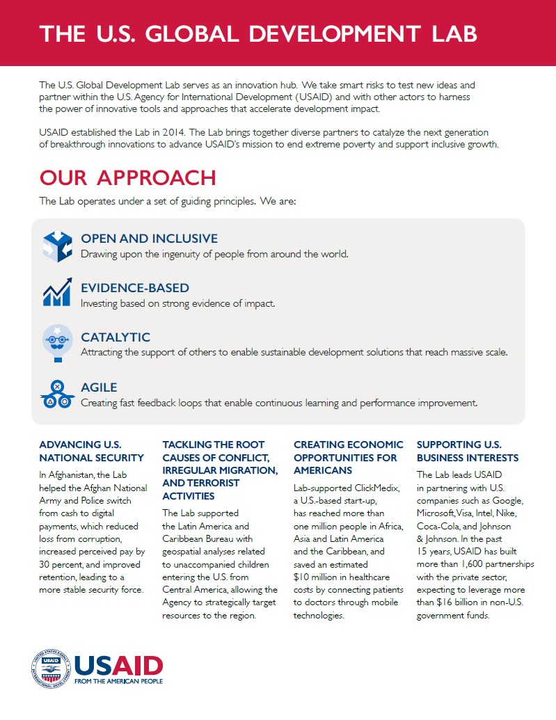 Fact Sheet about the U.S. Global Development Lab