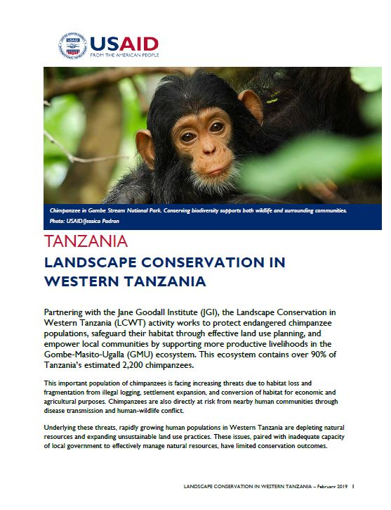 Landscape Conservation in Western Tanzania Fact Sheet