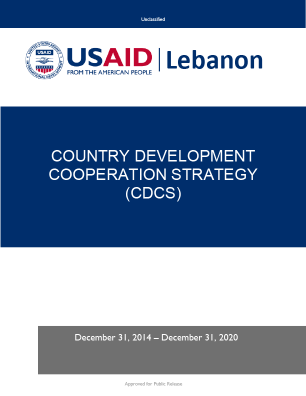 Lebanon Country Development Cooperation Strategy 2014-2020