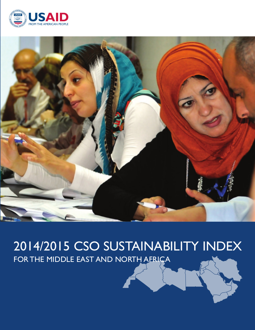 The 2014/2015 Civil Society Organization Sustainability Index for the Middle East and North Africa