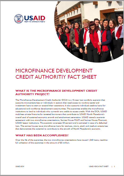 Microfinance Development Credit Authority Fact Sheet