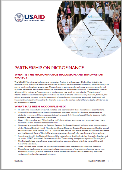 Download Microfinance Inclusion Project Fact Sheet