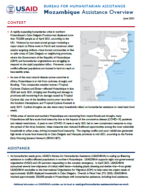 USAID-BHA Mozambique Assistance Overview - June 2021