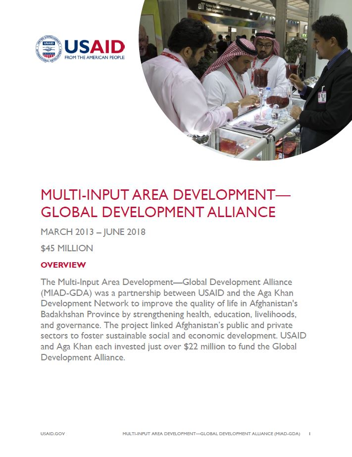 Multi-Input Area Development—Global Development Alliance