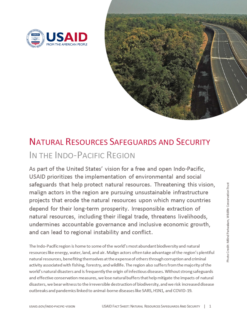 Natural Resources Safeguards and Security in the Indo-Pacific Region