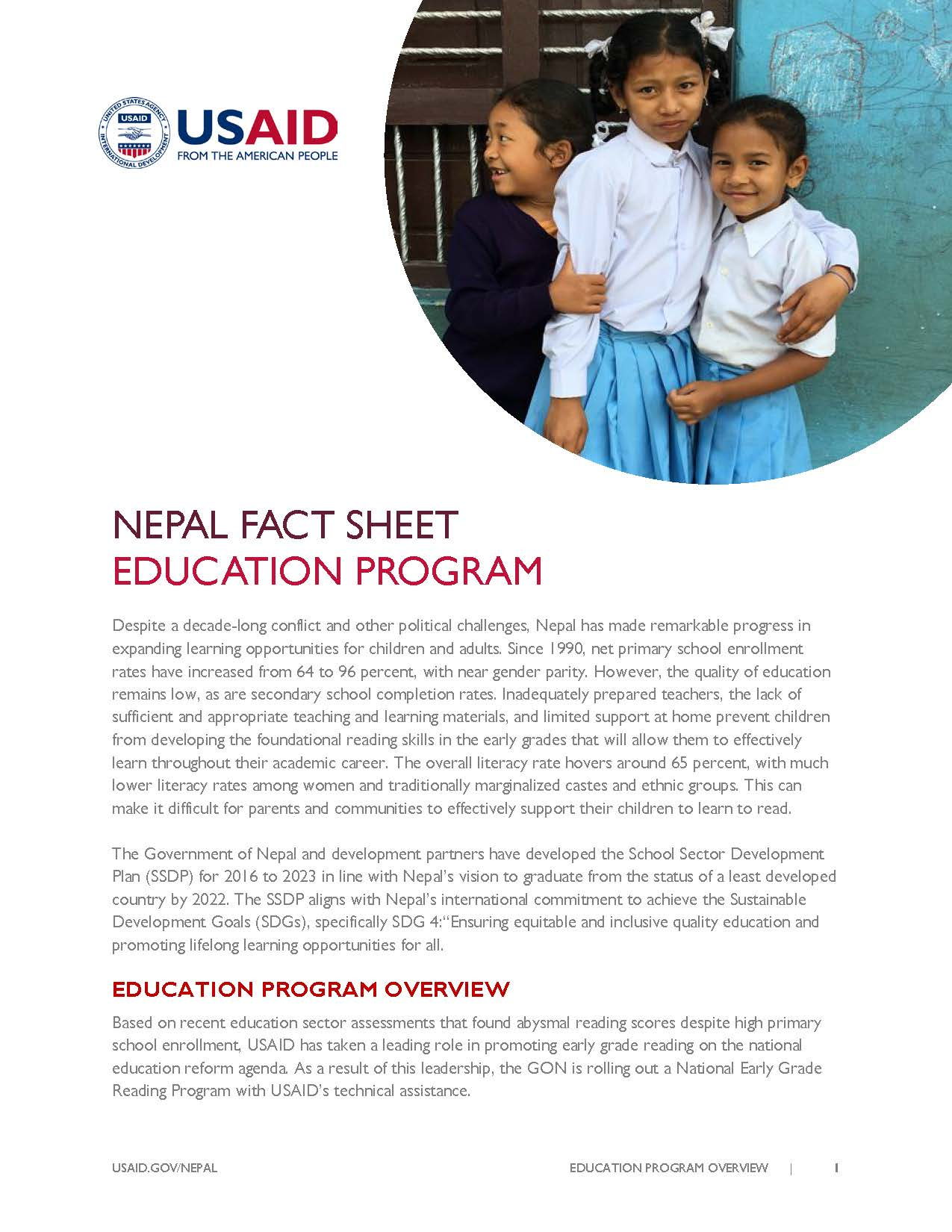 Fact Sheet: EDUCATION PROGRAM