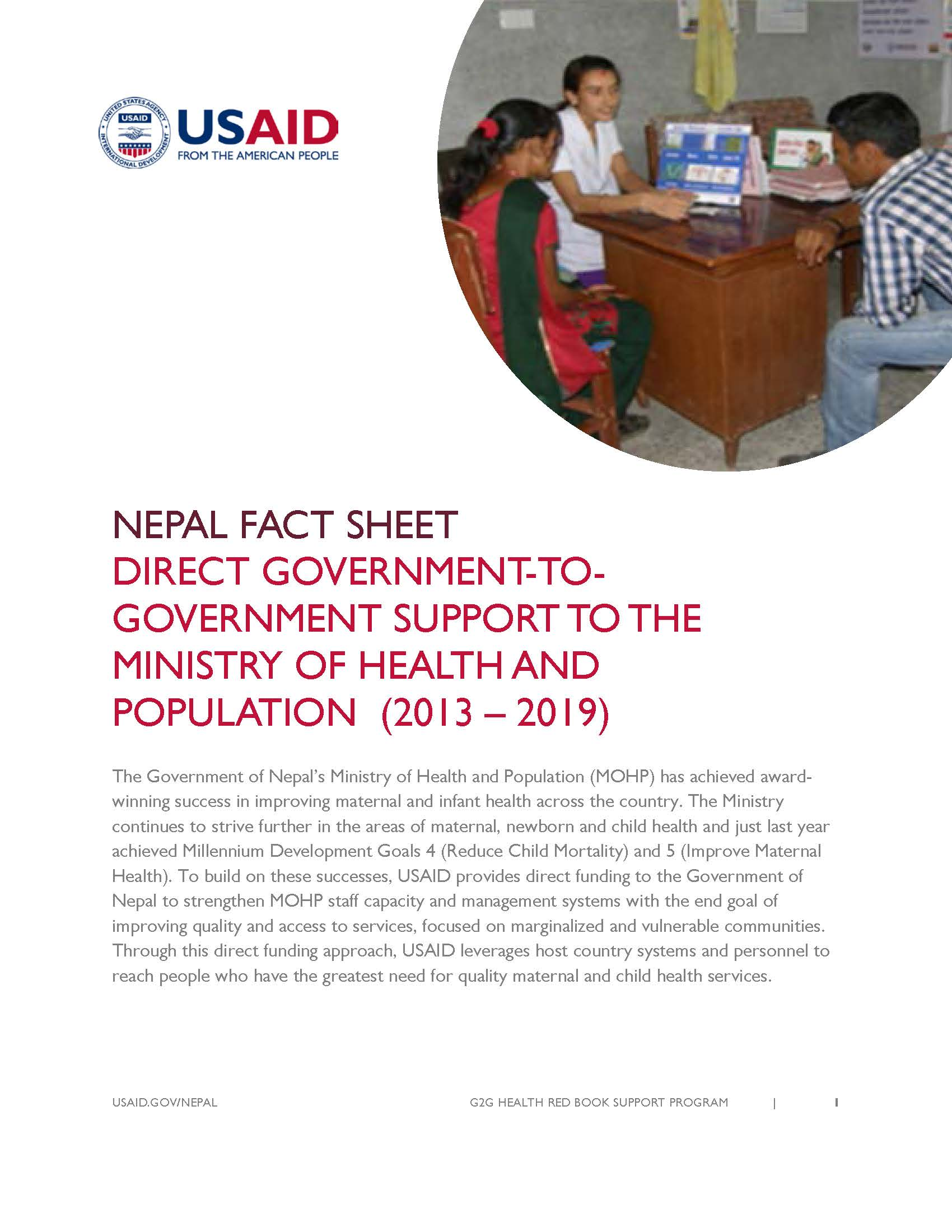 Red Book Support Program | Fact Sheet | Nepal | U S  Agency