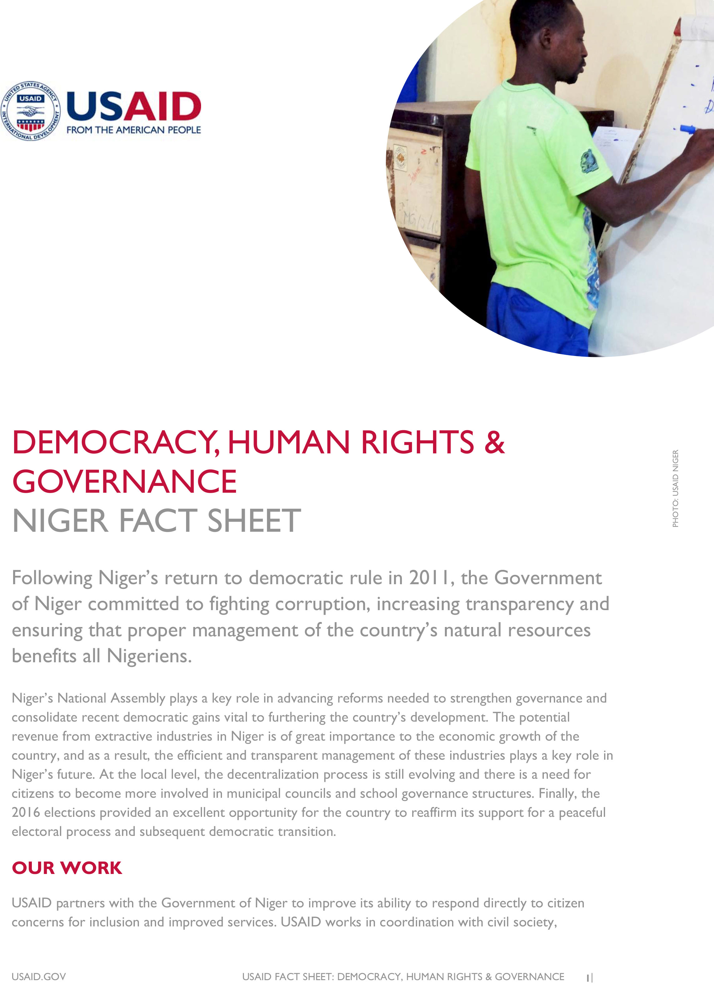 Niger Democracy, Human Rights and Governance Fact Sheet