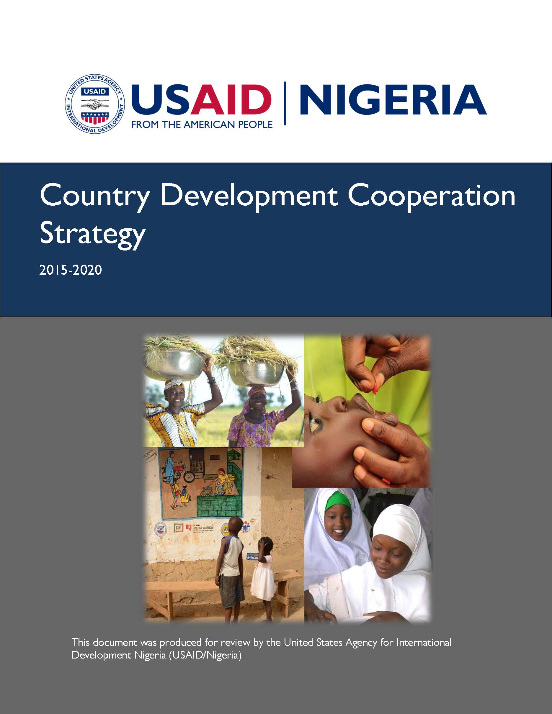 Nigeria Country Development Cooperation Strategy 2015-2020