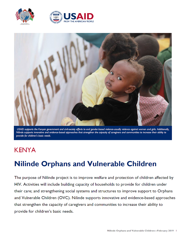 Nilinde Orphans and Vulnerable Children fact sheet