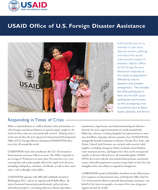 USAID/OFDA Fact Sheet