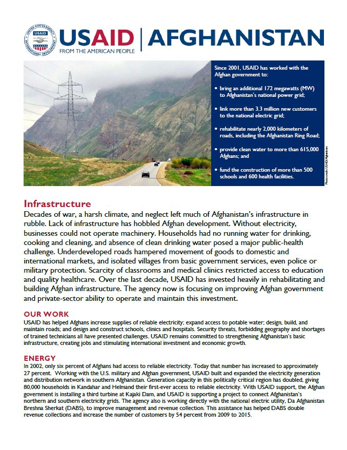 Infrastructure Fact Sheet - July 2016