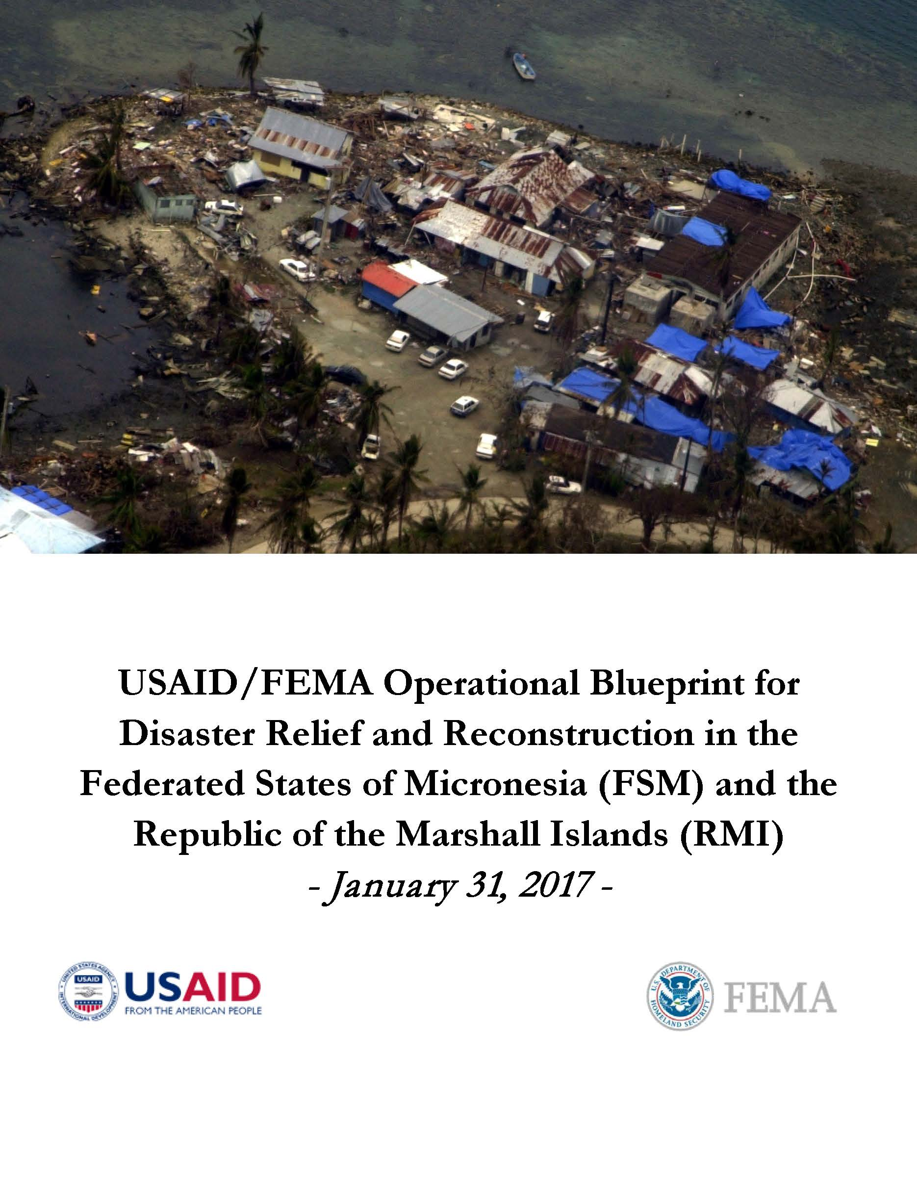 USAID/FEMA Operational Blueprint for Disaster Relief and Reconstruction in FSM and RMI