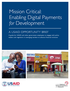 Mission Critical: Enabling Digital Payments for Development